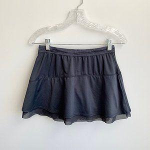 ATHLETA   Dark Gray Tulle Aline Running Skirt